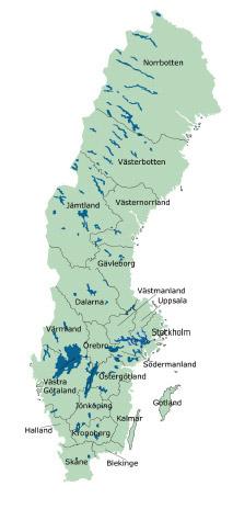 Bild på Sverige
